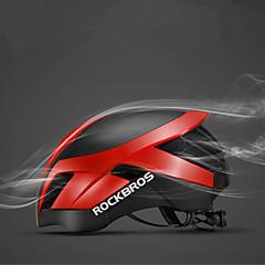 abordables Cascos-ROCKBROS Adulto Casco de bicicleta 26 Ventoleras ESP+PC Deportes Ciclismo / Bicicleta - Negro / azul / Negro + astilla / Azul Real Hombre