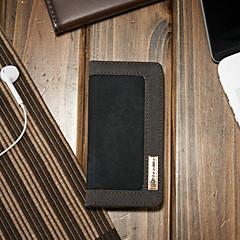 baratos Capinhas para iPhone-CaseMe Capinha Para Apple Capinha iPhone 5 Carteira / Porta-Cartão / Com Suporte Capa Proteção Completa Sólido Rígida Têxtil para iPhone SE / 5s / iPhone 5