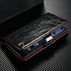 Недорогие Чехлы и кейсы для LG-CaseMe Кейс для Назначение LG V20 Кошелек / Бумажник для карт / со стендом Чехол Однотонный Твердый Кожа PU для LG V20