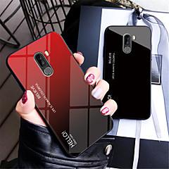 Недорогие Чехлы и кейсы для Xiaomi-Кейс для Назначение Xiaomi Xiaomi Pocophone F1 / Xiaomi A2 lite Зеркальная поверхность Кейс на заднюю панель Градиент цвета Твердый Закаленное стекло для Xiaomi Pocophone F1 / Xiaomi Mi 8 / Xiaomi Mi