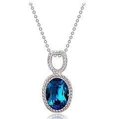 preiswerte Halsketten-Damen Blau Kristall Klassisch Anhängerketten - Diamantimitate, Österreichisches Kristall Romantisch, Modisch, Elegant lieblich Blau 45 cm Modische Halsketten Schmuck 1pc Für Party / Abend, Alltag