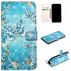 Недорогие Кейсы для iPhone 7 Plus-Кейс для Назначение Apple iPhone XS / iPhone XS Max Кошелек / Бумажник для карт / со стендом Чехол Бабочка Твердый Кожа PU для iPhone XS / iPhone XR / iPhone XS Max