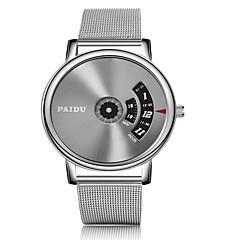 preiswerte Herrenuhren-Herrn Armband-Uhr Quartz Kalender Armbanduhren für den Alltag Legierung Band Analog-Digital Modisch Silber - Silber / Gray Silbrig / White