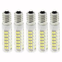 abordables Bombillas LED-5pcs 4.5 W 450 lm E14 Bombillas LED de Mazorca T 76 Cuentas LED SMD 2835 Regulable Blanco Cálido / Blanco Fresco 110 V