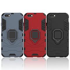 Недорогие Кейсы для iPhone-Кейс для Назначение Apple iPhone 6 Plus / iPhone 6s Plus Защита от удара / Кольца-держатели Кейс на заднюю панель Однотонный / броня Твердый ПК для iPhone 6s Plus / iPhone 6 Plus