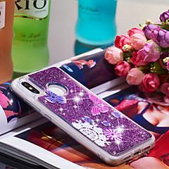 Недорогие Чехлы и кейсы для Xiaomi-Кейс для Назначение Xiaomi Mi 8 Защита от удара / Сияние и блеск Кейс на заднюю панель Бабочка / Сияние и блеск Мягкий ТПУ для Xiaomi Mi 8