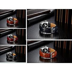 baratos Acessórios para Apple Watch-Pulseiras de Relógio para Apple Watch Series 4/3/2/1 Apple Fecho Clássico Couro Legitimo Tira de Pulso