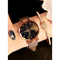 お買い得  レディース腕時計-女性用 リストウォッチ クォーツ ブラック / レッド / ブラウン 30 m 耐水 新デザイン ハンズ レディース カジュアル ファッション - レッド グリーン ピンク