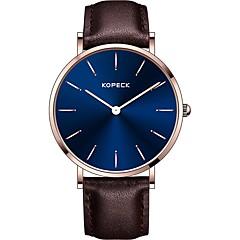 preiswerte Herrenuhren-Kopeck Armbanduhr Digitaluhr Sender Wasserdicht, Armbanduhren für den Alltag Schwarz / Kaffee / Braun / Japanisch / Echtes Leder / Japanisch