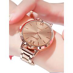 preiswerte Damenuhren-Damen Armbanduhr Quartz 30 m Wasserdicht Armbanduhren für den Alltag Edelstahl Band Analog Freizeit Modisch Silber / Gold / Rotgold - Gold Silber Rotgold