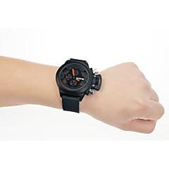 お買い得  メンズ腕時計-男性用 リストウォッチ クォーツ ブラック カレンダー アナログ/デジタル ファッション - ブラック / ステンレス