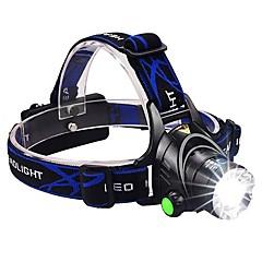 お買い得  ヘッドランプ-ヘッドランプ 自転車用ヘッドライト LED LED エミッタ 1600 lm 3 照明モード バッテリー&チャージャー付き ズーム可能, 防水, 焦点調整可 キャンプ / ハイキング / ケイビング, 日常使用, サイクリング