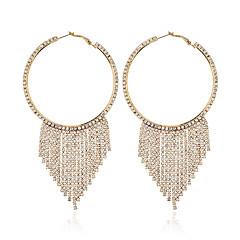 preiswerte Ohrringe-Damen Klassisch Tropfen-Ohrringe - Diamantimitate Stilvoll, Geometrisch Schmuck Gold / Schwarz / Silber Für Hochzeit Party Verabredung / 1 Paar
