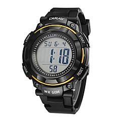 お買い得  メンズ腕時計-男性用 スポーツウォッチ クォーツ ブラック 耐水 カレンダー クロノグラフ付き デジタル カジュアル ファッション - イエロー レッド ブルー
