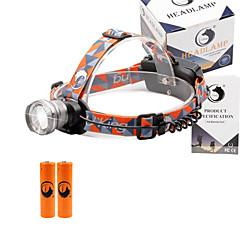 お買い得  ヘッドランプ-U'King ヘッドランプ 自転車用ヘッドライト LED エミッタ 2000 lm 3 照明モード バッテリー付き ズーム可能, 焦点調整可, 小型 キャンプ / ハイキング / ケイビング, 日常使用, サイクリング