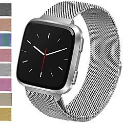 Недорогие -Ремешок для часов для Fitbit Versa Fitbit Миланский ремешок Нержавеющая сталь Повязка на запястье