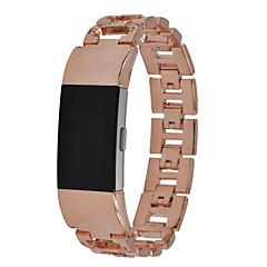 ieftine -Uita-Band pentru Fitbit Charge 2 Fitbit Design Bijuterie Oțel inoxidabil Curea de Încheietură