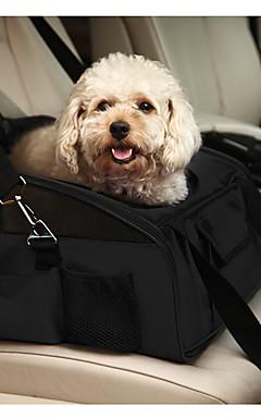 رخيصةأون -قط كلب الحاملة حقائب تحمل على الظهر وللسفر سيارة مقعد الغطاء حيوانات أليفة حاملات المحمول قابلة للطى لون سادة أخضر أزرق فاتح كاكي