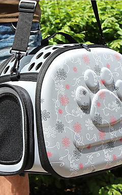 cheap -Cat Dog Carrier & Travel Backpack Pet Carrier Breathable Love Gray Pink