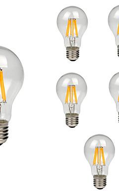preiswerte -6pcs 8 W LED Glühlampen 760 lm E26 / E27 A60(A19) 8 LED-Perlen COB Dekorativ Warmes Weiß Kühles Weiß 220-240 V / RoHs