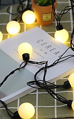 preiswerte -5m Leuchtgirlanden 20 LEDs Warmes Weiß Dekorativ 220-240 V 1 set
