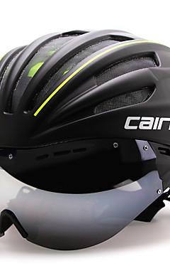 preiswerte -CAIRBULL Erwachsene Fahrradhelm mit Schutzbrille Aero Helm 28 Öffnungen ASTM F 2040 Stoßfest Einteilig vergossen Belüftung EPS PC Sport Straßenradfahren - Rot Grün Blau Herrn Damen Unisex