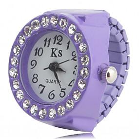 billige Ringeklokker-Dame Ringur Armbåndsur Diamond Watch Japansk Quartz Sort / Hvid / Pink Imiteret Diamant Damer Glitrende Mode - Sort Lilla Lys pink Et år Batteri Levetid / SSUO SR626SW