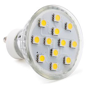 billige LED Lighting Engros-1pc 2 W LED-spotlys 80-100 lm GU10 12 LED Perler SMD 5050 Varm hvid Kold hvid Naturlig hvid 220-240 V