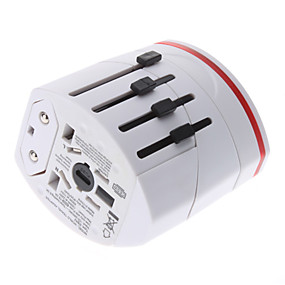 cheap Daily Deals-International Travel Adapter With 2 USB Charger High quality, durable for US, EU, UK, AU 160 Countries