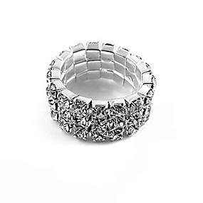 levne Šperky&Hodinky-Shining Alloy třířadé Zircon prsten
