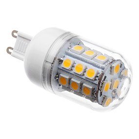رخيصةأون مصابيح ليد ثنائية-3 W أضواء LED ذرة 3000 lm G9 T 30 الخرز LED مصلحة الارصاد الجوية 5050 أبيض دافئ 220-240 V