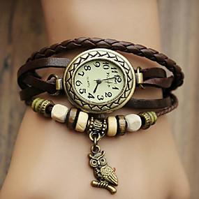 זול שעונים אופנתיים-בגדי ריקוד נשים שעון צמיד לעטוף את השעון קווארץ גלישה דמוי עור מרופד שחור / כחול / אדום שעונים יום יומיים אנלוגי נשים בוהמי אופנתי - אדום ירוק כחול שנה אחת חיי סוללה / Jinli 377