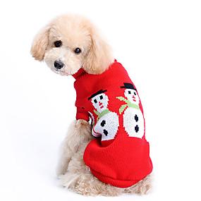 abc9463548f1 Χαμηλού Κόστους Χριστουγεννιάτικα κοστούμια για κατοικ-Σκύλος Πουλόβερ Ρούχα  για σκύλους Μονόχρωμο Μάλλινο Στολές Για