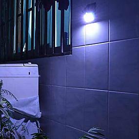 billige Soldrevne LED-lamper-4-LED Solar Powered PIR Motion Sensor Udendørs Light