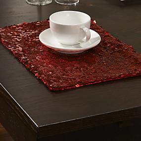 ieftine Fețe de masă-Contemporan Poliester Dreptunghiular Tăblițe masă Brodată Decoratiuni de tabla