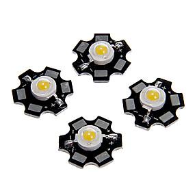 billige Daglige tilbud-zdm 5 stk 1w 80-100lm høj lysstyrke chip, høj effekt ledet varm hvid højde 3000-3500k, aluminium substrat (dc3-3.2v 350ma)
