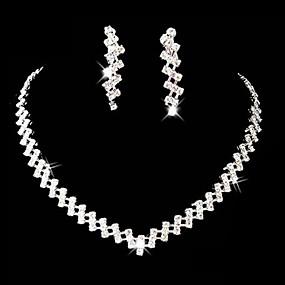 billige Smykker & Ure-Dame Rhinsten Legering Bryllup Fest Speciel Lejlighed Jubilæum Fødselsdag Forlovelse Gave Kostume smykker