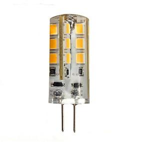abordables Luces LED de Doble Pin-1.5 W Luces LED de Doble Pin 130-150 lm G4 24 Cuentas LED SMD 2835 Blanco Cálido 12 V / CE / Cañas