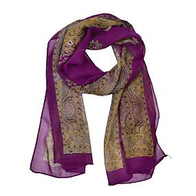 billige Tørklæder og sjaler-Dame Vintage / Fest / Kontor Rektangulært tørklæde - Chiffon Trykt mønster / Halstørklæde