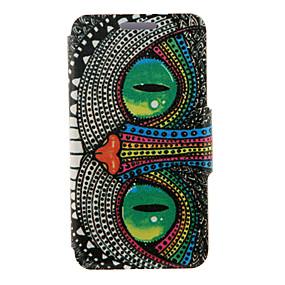 voordelige Galaxy S6 Edge Plus Hoesjes / covers-hoesje Voor Samsung Galaxy S6 edge plus / S6 edge / S6 met standaard / Flip Volledig hoesje Uil PU-nahka
