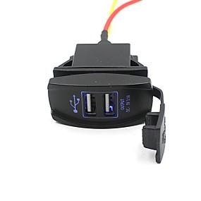 voordelige Autoladers-5v 3.1a dual usb-poort autolader stopcontact voor suv motorboot waterdicht en stofdicht
