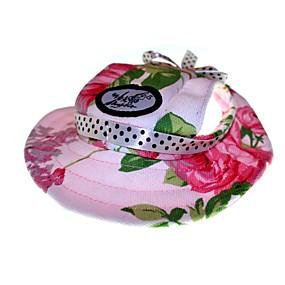 voordelige Honden Sieraden & Accessoires-Kat Hond Bandana's & Hoeden Hondenkleding Roze Regenboog Wit / Roze Katoen Kostuum Voor Lente & Herfst