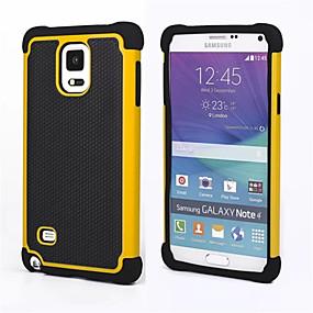 billige Etuier / covers til Galaxy Note-modellerne-DE JI Etui Til Samsung Galaxy Samsung Galaxy Note Stødsikker Bagcover Rustning PC for Note 4 / Note 3