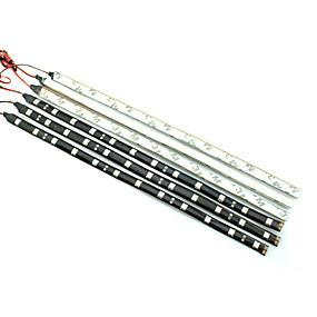 ieftine Benzi Lumină LED-0.3m Fâșii De Becuri LEd Flexibile 12LED LED-uri Alb / Roșu / Albastru Rezistent la apă 12V / IP44