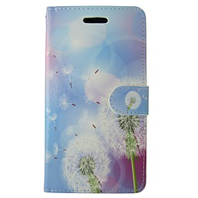 halpa iPhone 5S / SE kotelot-Etui Käyttötarkoitus iPhone 5C / Apple Lomapkko / Korttikotelo / Tuella Suojakuori Voikukka Kova PU-nahka varten iPhone SE / 5s / iPhone 5c