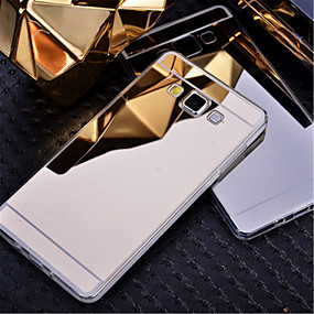 voordelige Galaxy A8 Hoesjes / covers-hoesje Voor Samsung Galaxy A8 / A7 / A5 Beplating / Spiegel Achterkant Effen PC