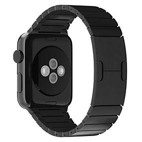 お買い得  日替わりバーゲン-時計バンド のために Apple Watch Series 4/3/2/1 Apple バタフライバックル ステンレス リストストラップ