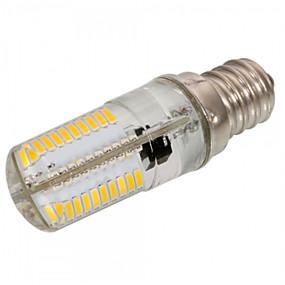 abordables Luces LED de Doble Pin-1pc 4 W 300-350 lm E12 / E17 / E11 Bombillas LED de Mazorca T 80 Cuentas LED SMD 3014 Regulable / Decorativa Blanco Cálido / Blanco Fresco 220-240 V / 110-130 V / 1 pieza / Cañas