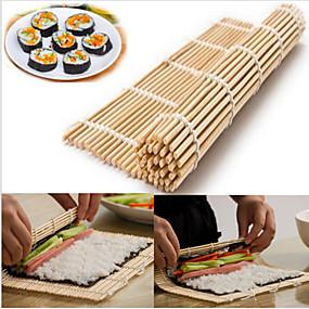 ieftine Ustensile Bucătărie & Gadget-uri-japonez sushi de rulare bambus mână roller diy maker
