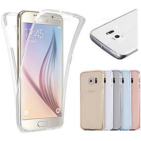 halpa Galaxy S -sarjan kotelot / kuoret-Etui Käyttötarkoitus Samsung Galaxy Samsung Galaxy S7 Edge Läpinäkyvä Suojakuori Yhtenäinen TPU varten S7 edge / S7 / S6 edge